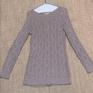 Taupe sweater tunic